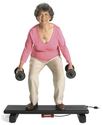 senior lady exercising Markito Fitness